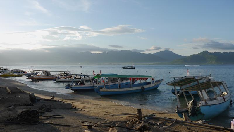 Perahu-perahu yang terparkir