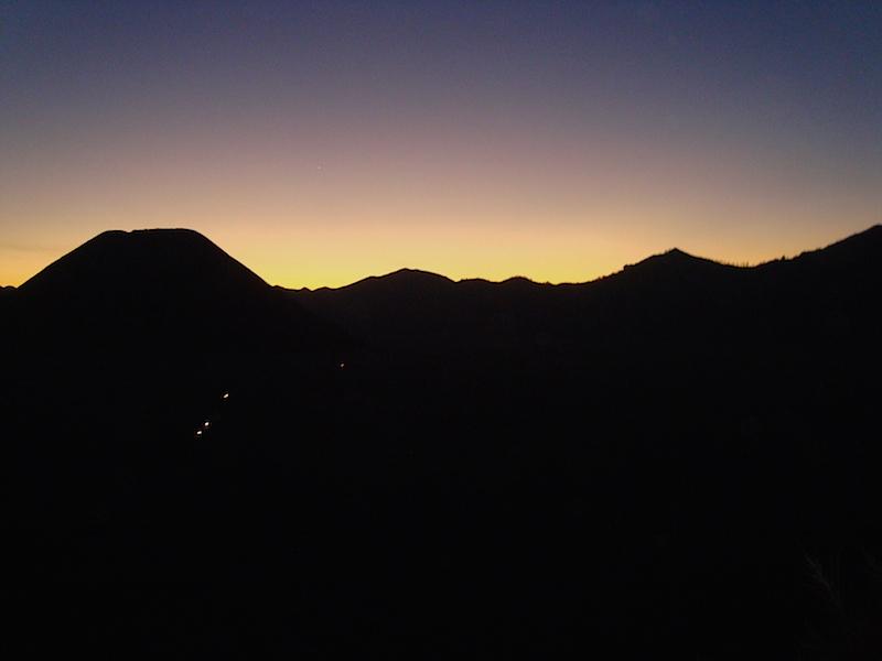 Menjelang malam di Bromo