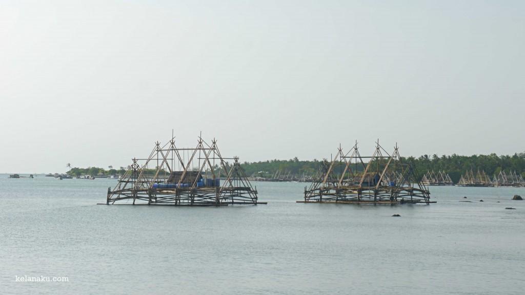 Bagan-bagan nelayan di Desa Taman Jaya